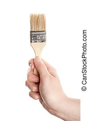 Hand with a brush