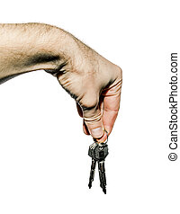 Hand with a bunch of keys