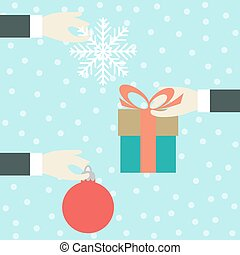 Hand with a gift