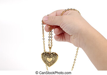 Heart Charm - Hand with a Heart Charm