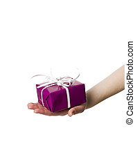 Hand with a present