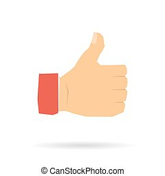 Hand with a raised thumb