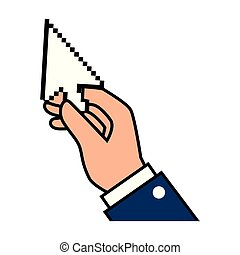 hand with arrow mouse pointer