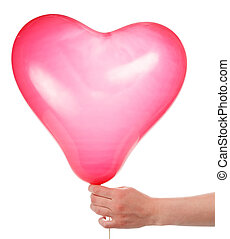Hand with balloon