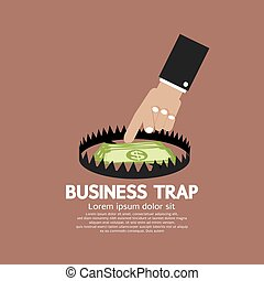 Hand With Banknote Business Trap.