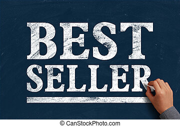 Best Seller - Hand with chalk is writing the text Best...