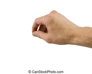 Hand with clipping path