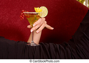 Hand with cocktail
