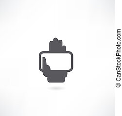 hand with credit card icon
