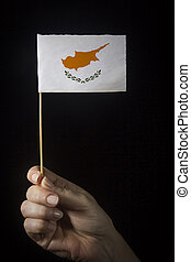 Hand with flag of Cyprus