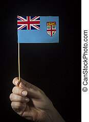 Hand with Flag of Fiji