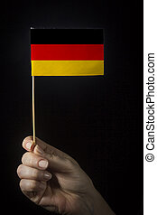 Hand with flag of Germany
