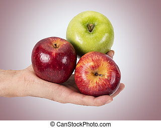 hand with fruit