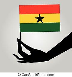 Hand with Ghana flag