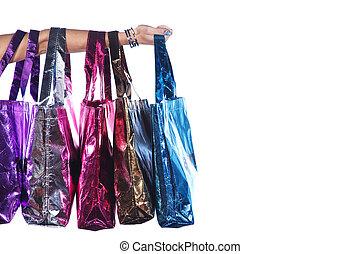 hand with handbags