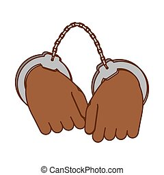 hand with handcuffs icon image