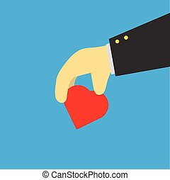 hand with heart,vector