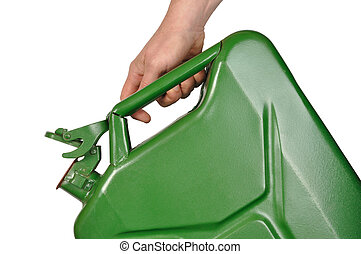Hand with Jerrycan