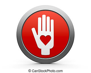 Hand with love icon