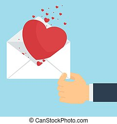 hand with love letter