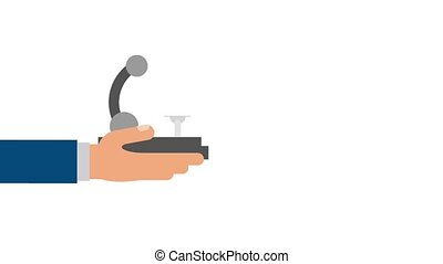 Hand with microscope HD animation
