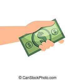 hand with money bill
