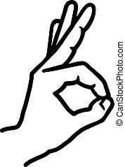 Hand with ok sign
