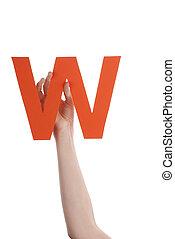 Hand With Orange W