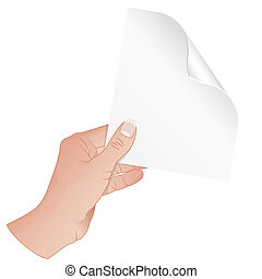 Hand with Piece of Paper