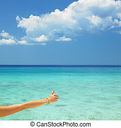 hand with shell bracelet, Maria la Gorda Beach, Pinar del Rio Province, Cuba