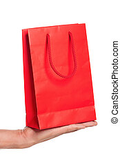 Hand with shopping bag