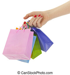Hand with shopping bags