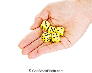 Hand with some dice