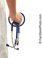 hand with stethoscope