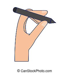 hand with tablet pen