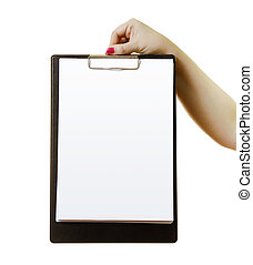 hand with the clipboard