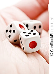 Hand with the dice