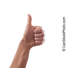 Hand with thumb up, ok, super