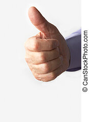 hand with thumb up - businessman hand with thumb up