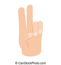 Hand with two fingers isometric 3d icon