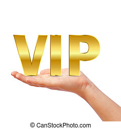 Hand with vip