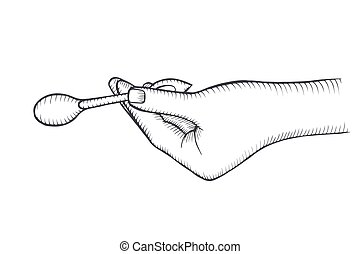 hand with with spoon