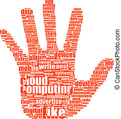 hand with word like - social media and network concept