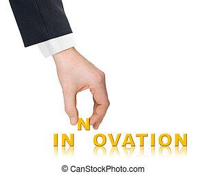 hand, woord, innovatie
