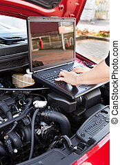 Hand Working In Auto Repair Service