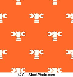 Hand wrench pattern vector orange for any web design best