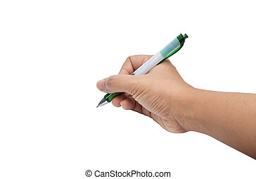 hand write - Isolated female hand write, drawing wiht pen