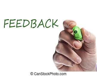 Feedback - Hand write with green marker Feedback
