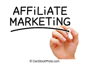 Affiliate Marketing - Hand writing Affiliate Marketing with...