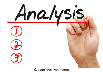 Hand writing Analysis List, business concept